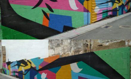 Mural Colaborativo con las familias y vecinxs de la «AAVV Casco Antiguo», Badajoz