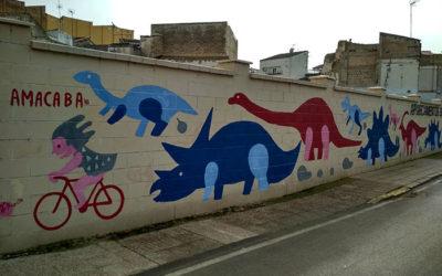 Mural colaborativo con Asociación «AMACABA». Badajoz