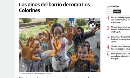MURAL COLABORATIVO EN «COLORINES»,BADAJOZ DIARIO HOY