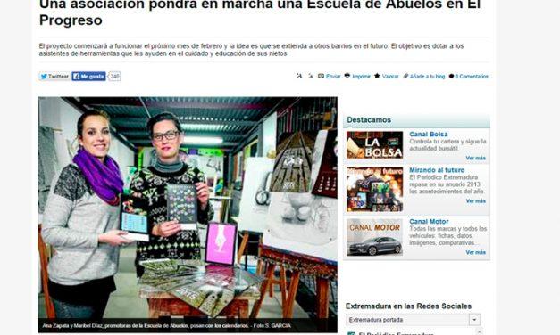 Noticias periódico HOY y Extremadura. Escuela De Abuelas y Abuelos