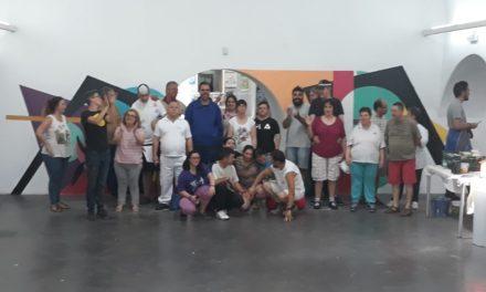 Mural colaborativo con lxs chicxs de «Inclusives» Vva. de la Serena, Badajoz