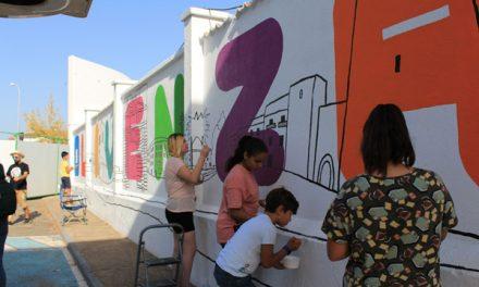 ´Vídeo mural colaborativo, Olivenza. Badajoz