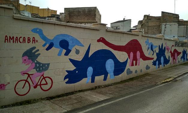 """Mural colaborativo con Asociación """"AMACABA"""". Badajoz"""