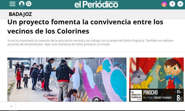 """Mural colaborativo en """"Colorines"""",Badajoz Diario Extremadura"""